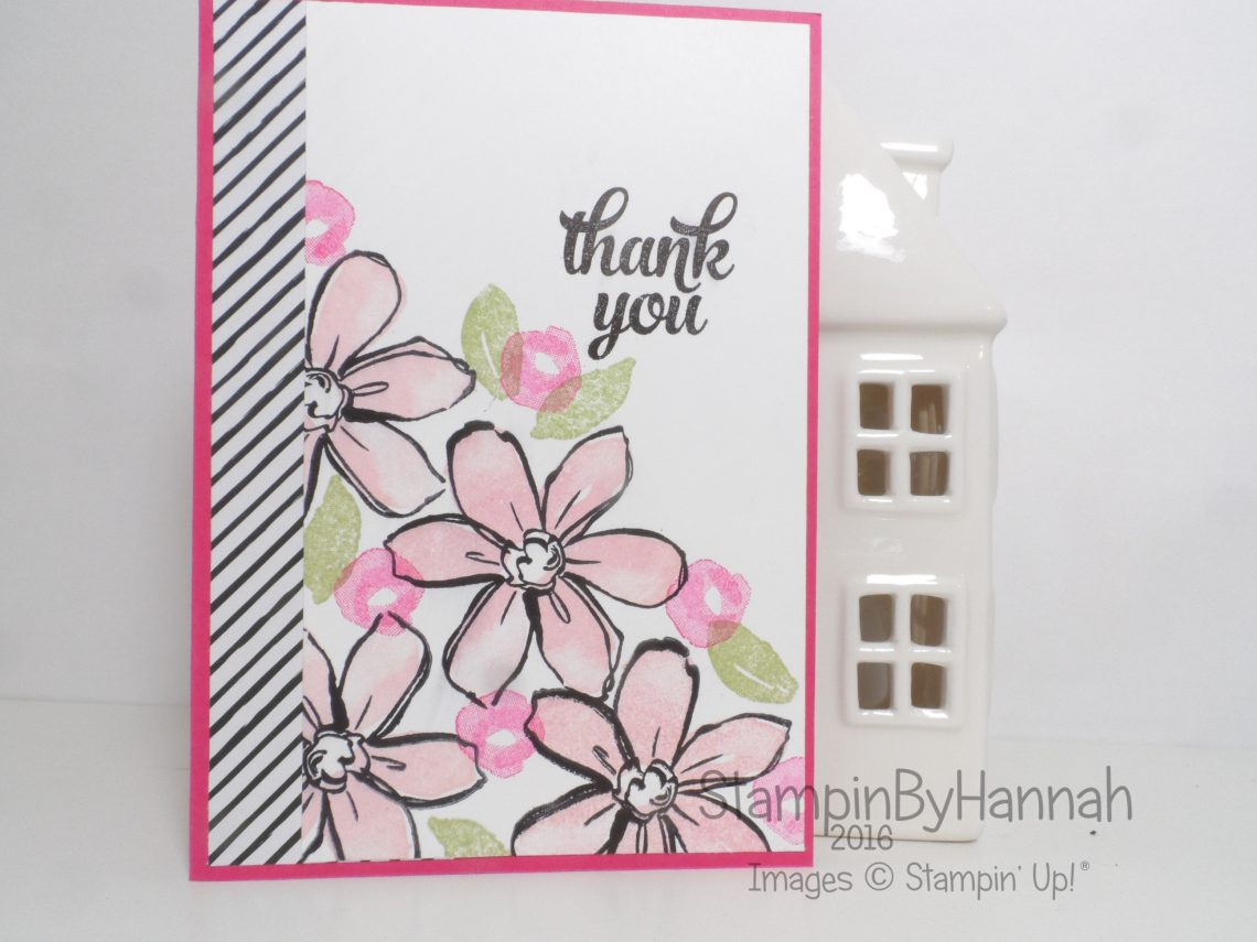 Thank You Card using Garden in Bloom and Tin of Cards from Stampin' Up! UK