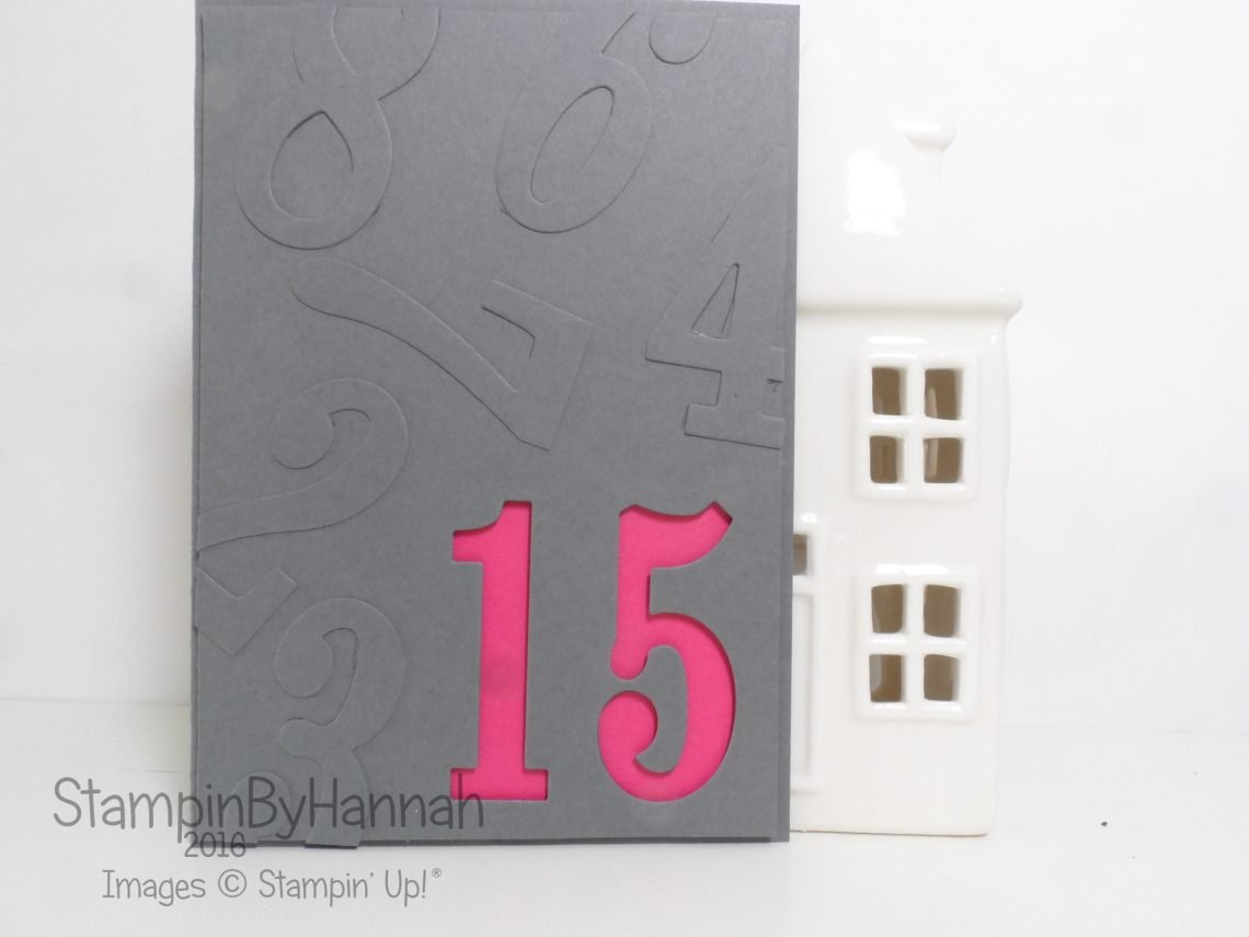 Large Numbers Birthday card Video Tutorial Featuring Stampin' Up! UK products