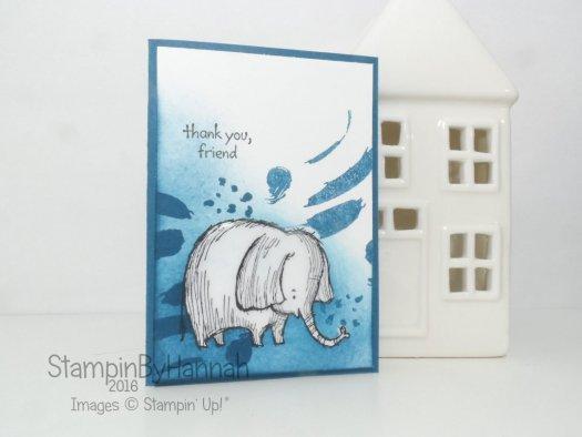 Dapper Demin Love you lots masking note card Stampin' Up! UK