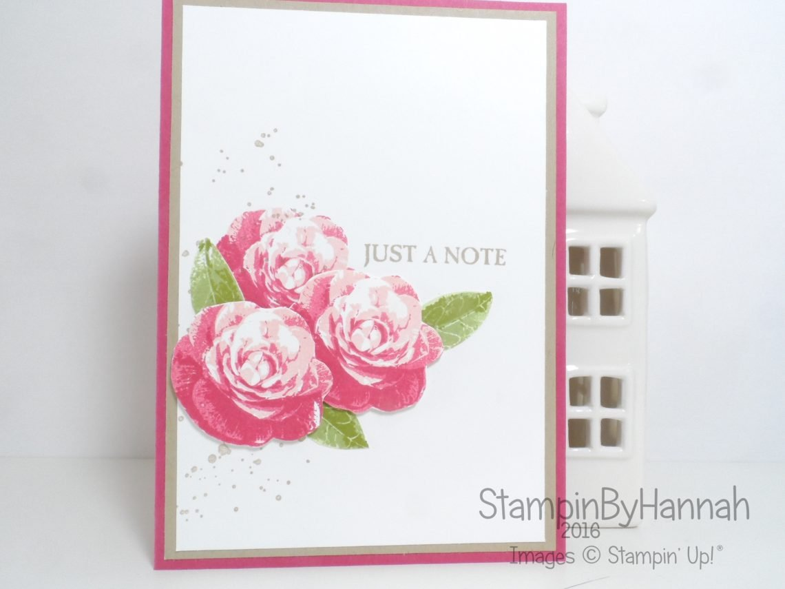 Make It Monday Video Tutorial 2 Step Stamping Picture Perfect from Stampin' Up! UK