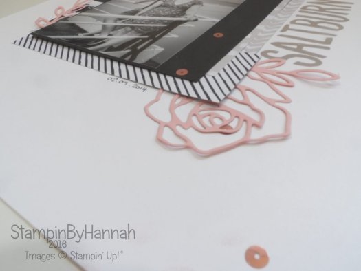 Wedding Album 12x12 Scrapbook page Rose Wonder Stampin' Up! UK