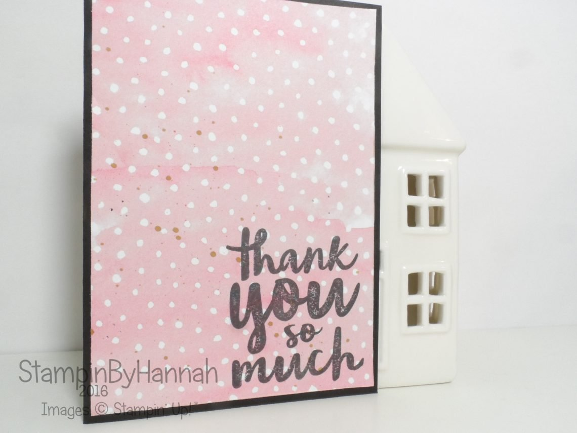 Quick and Simple Thank You card using thoughtful thanks from Stampin' Up! UK