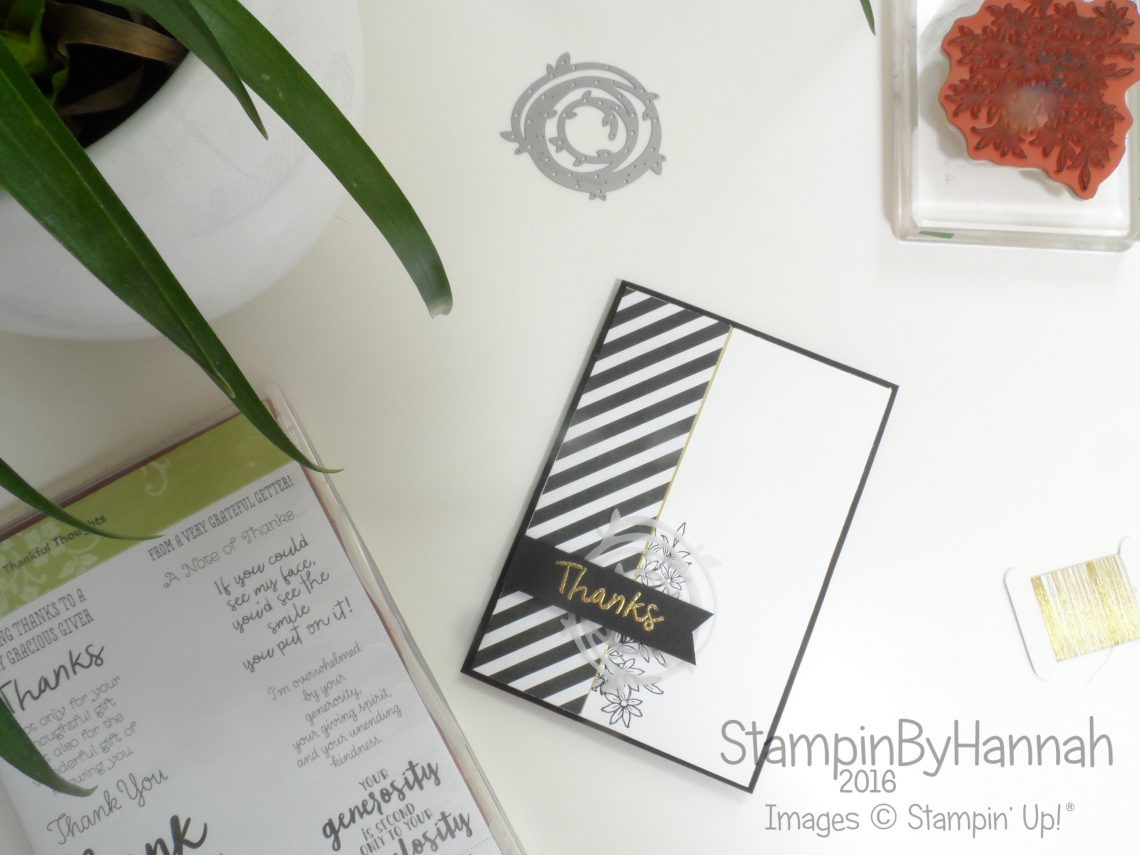 Swirly Scribbles Awesomely Artistic Thank You Card using Stampin' Up! UK products