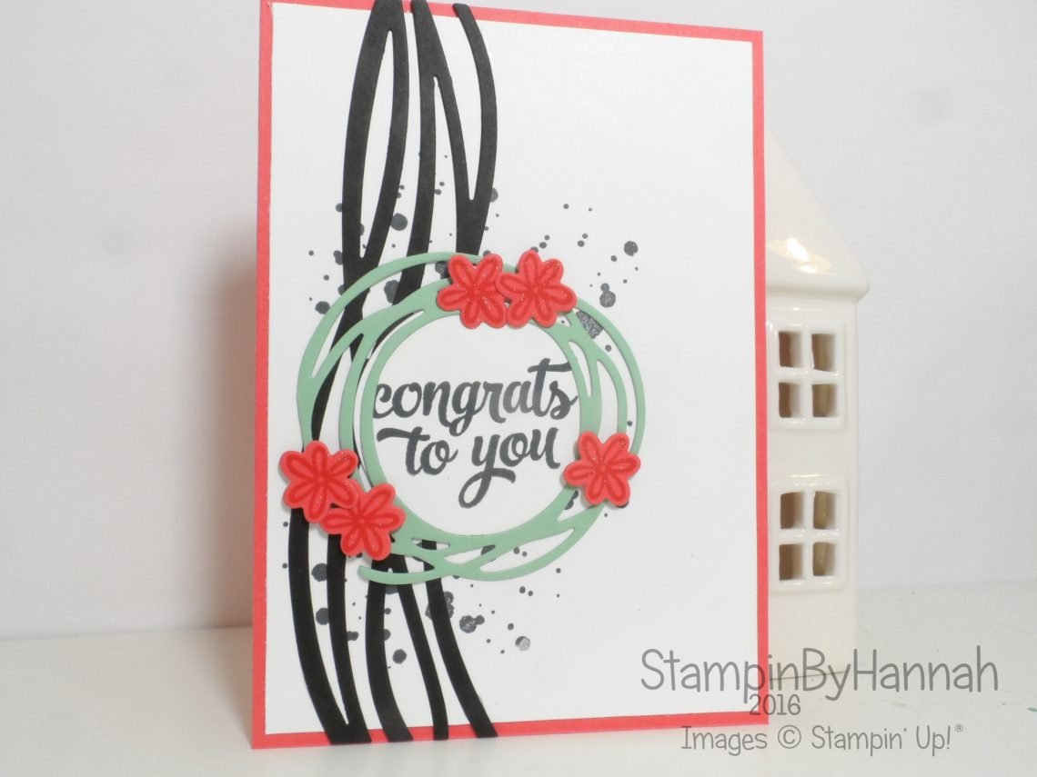 Congratulations card using Tin of Cards and Swirly Bird from Stampin' Up! UK