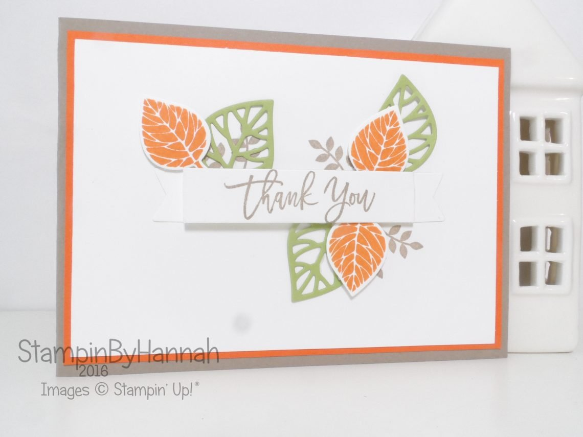 Thank you card using Thoughtful Branches from Stampin' Up! UK