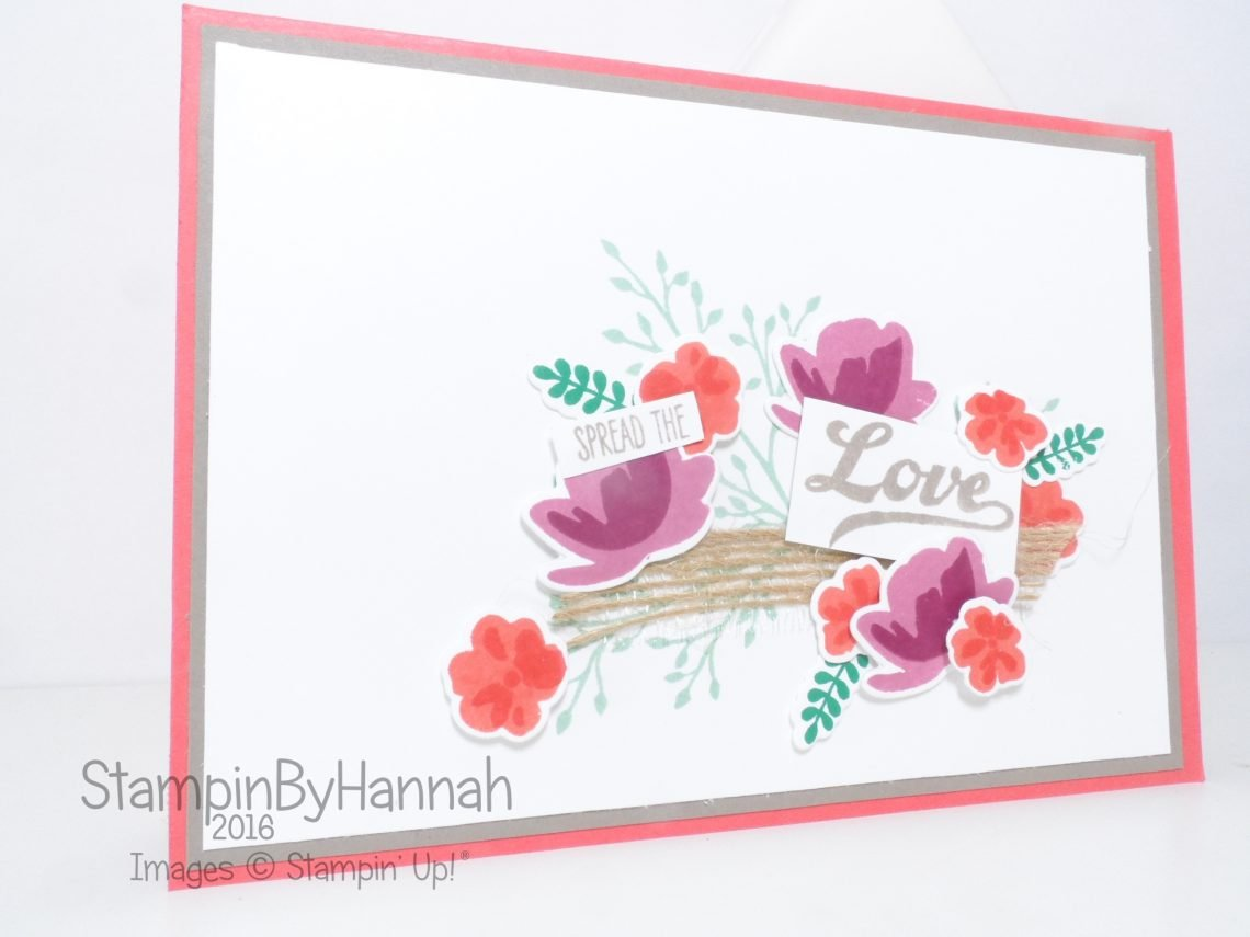 Jar of Love card using Stampin' Up! Uk products