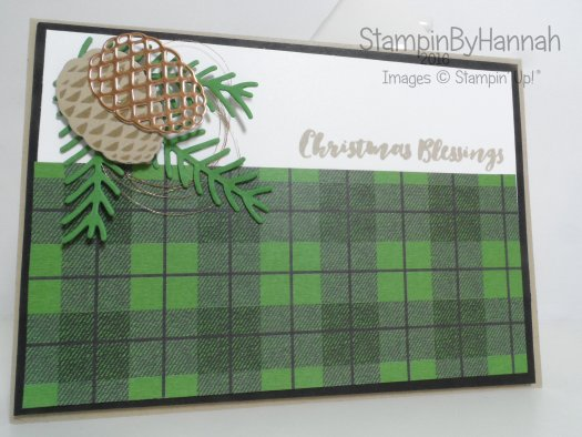 Quick and Easy Christmas Card using Christmas Pines from Stampin' Up! UK