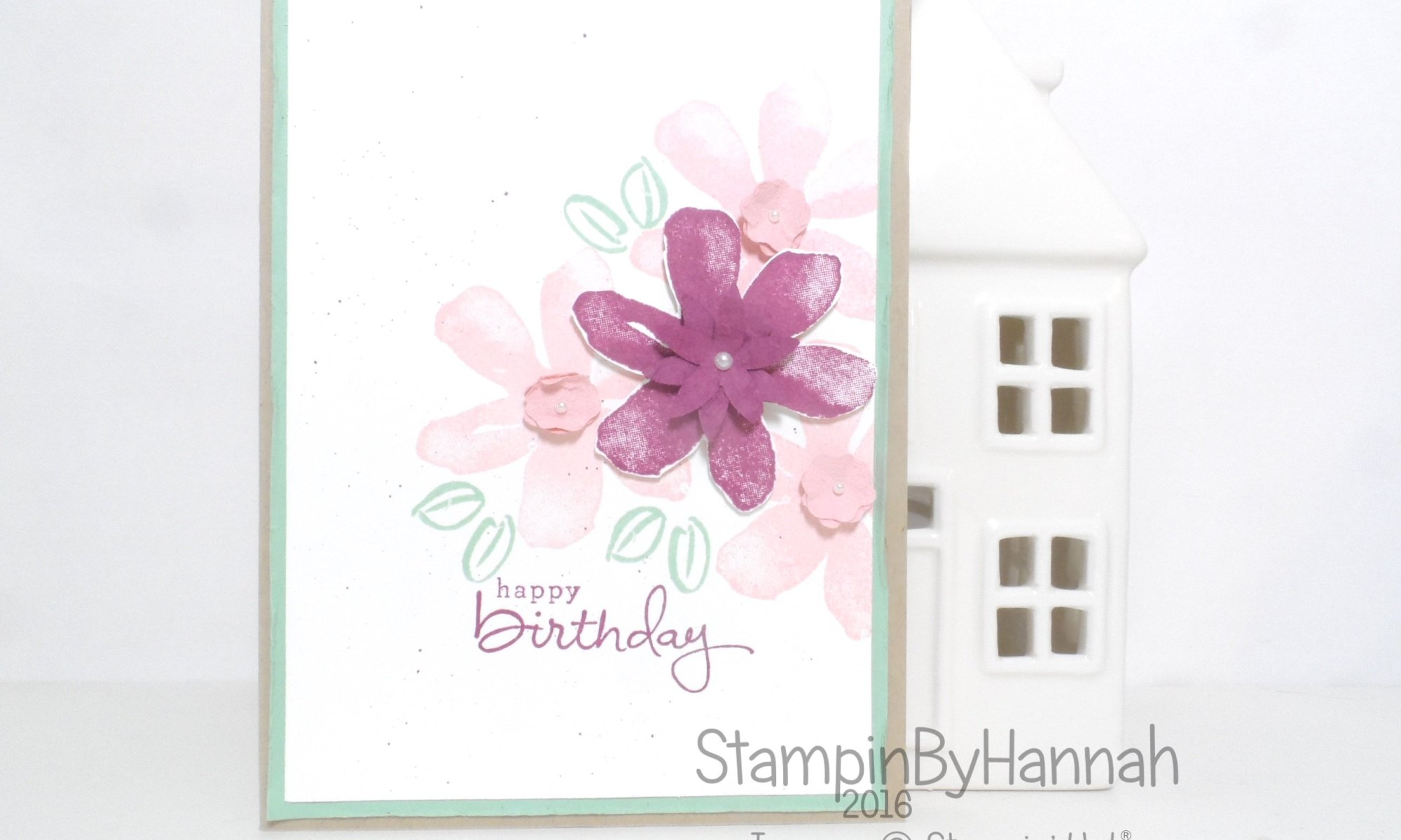 Global Design Project Colour Challenge using Garden in Bloom from Stampin' Up! UK