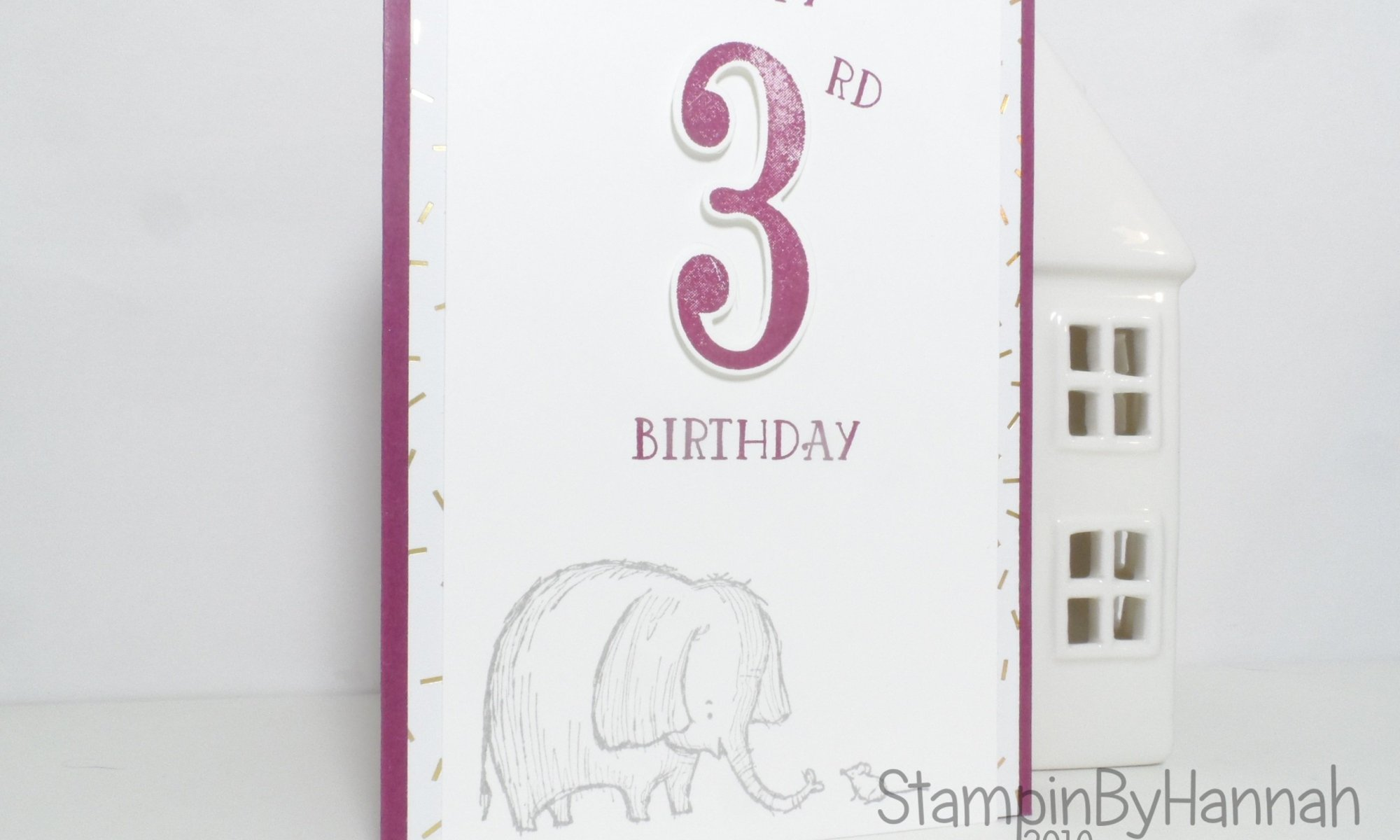 Childrens birthday card using love you lots from Stampin' Up! UK
