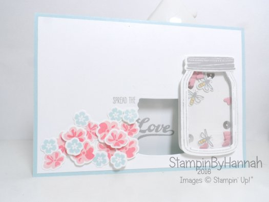 Make It Monday Cute Floral Shaker Card using Jar of Love from Stampin' Up! UK