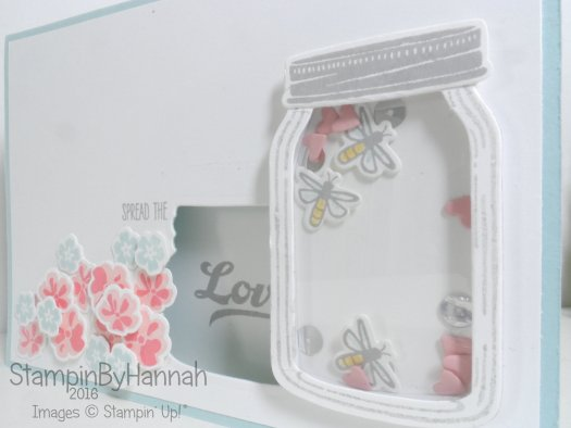 Make It Monday video Tutorial Shaker Card using Jar of Love from Stampin' Up! UK
