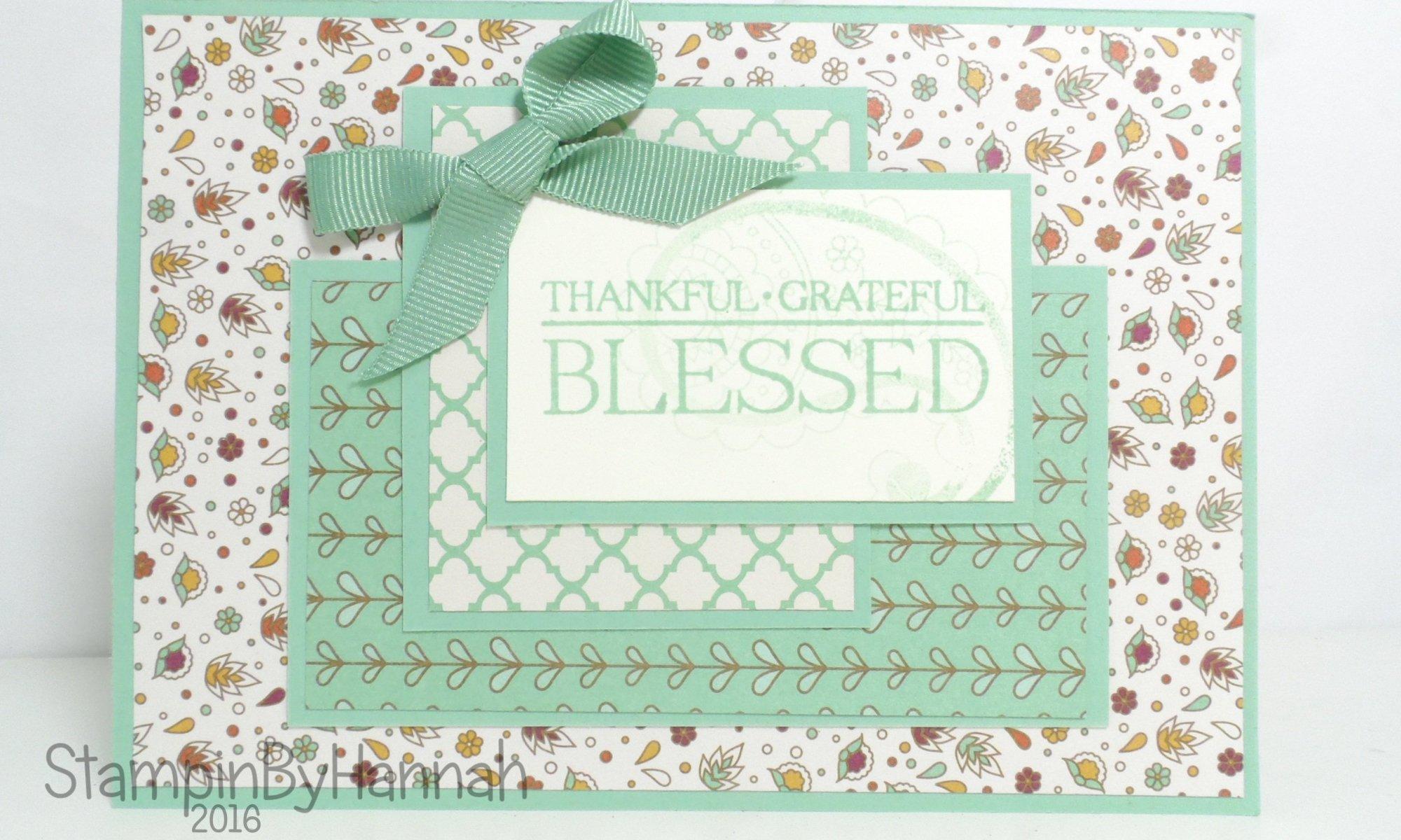 Petals and Paisleys Designer Series Paper Card using Stampin' up! UK