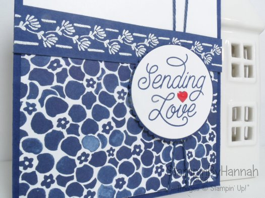 Sending Love card using Floral Boutique and Designer Tin of Cards from Stampin' Up! UK