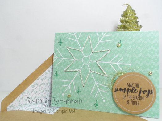 Quick and Easy Christmas Card using the Stitched with Cheer project kit from Stampin' Up! UK