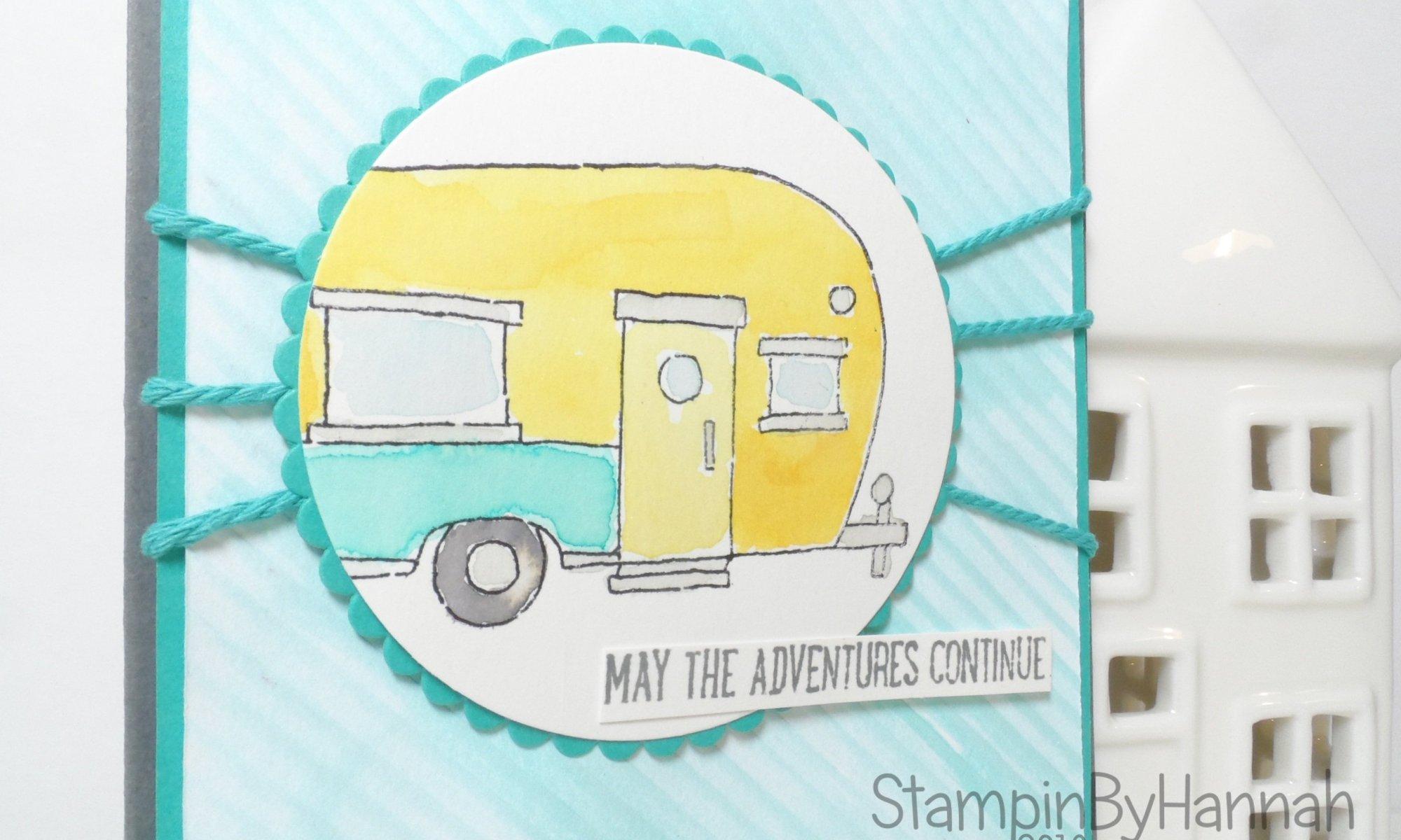 Pootlers Design Team Pootles Papercraft card using Glamper Greetings from Stampin' Up! UK