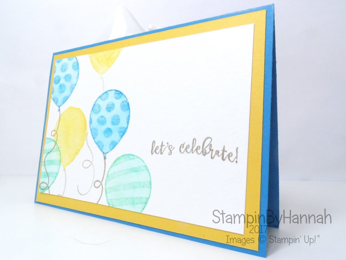 Birthday Card Club Celebration Card using Balloon Adventures from Stampin' Up! UK