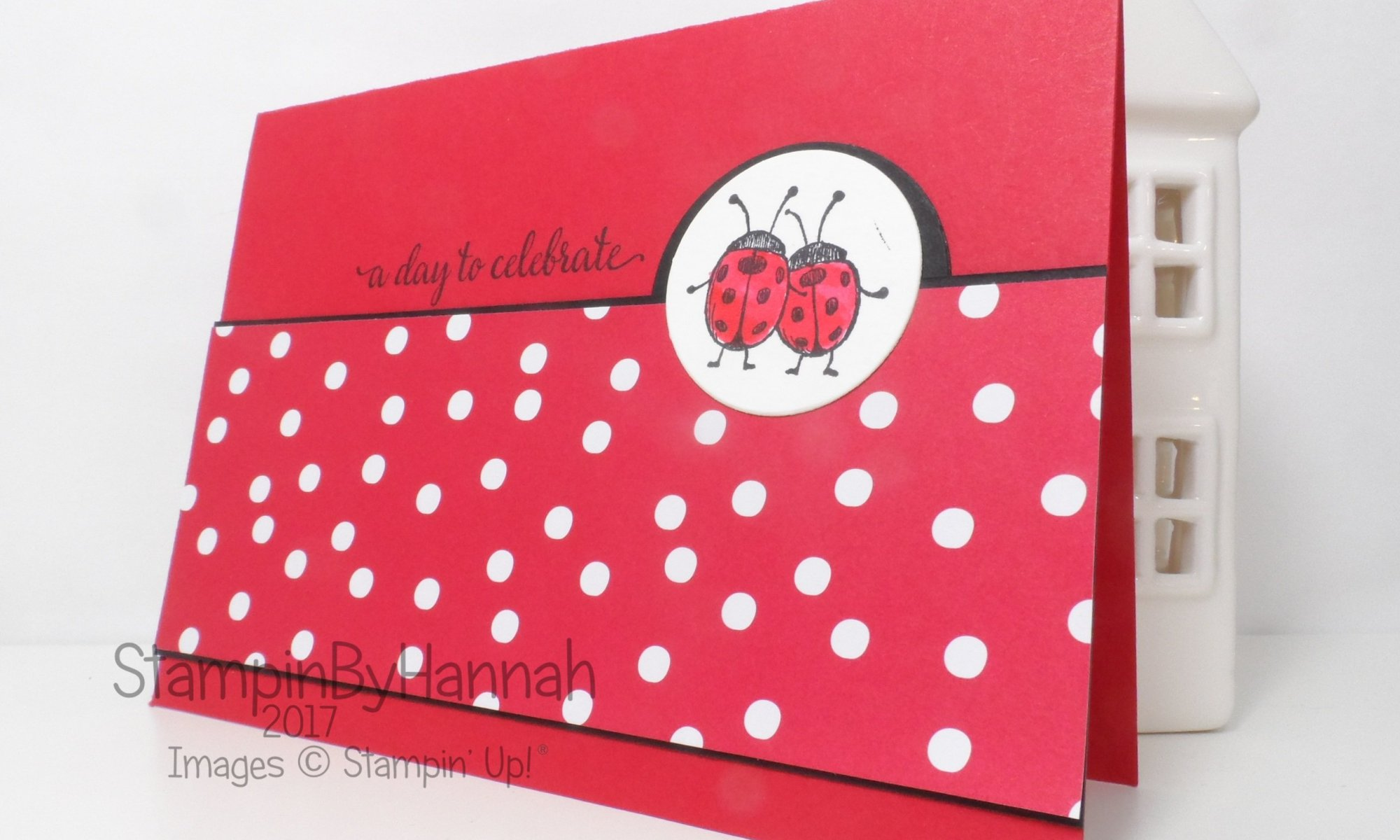 Global Design Project Celebration card using Falling in Love with Lots of Love from Stampin' Up! UK