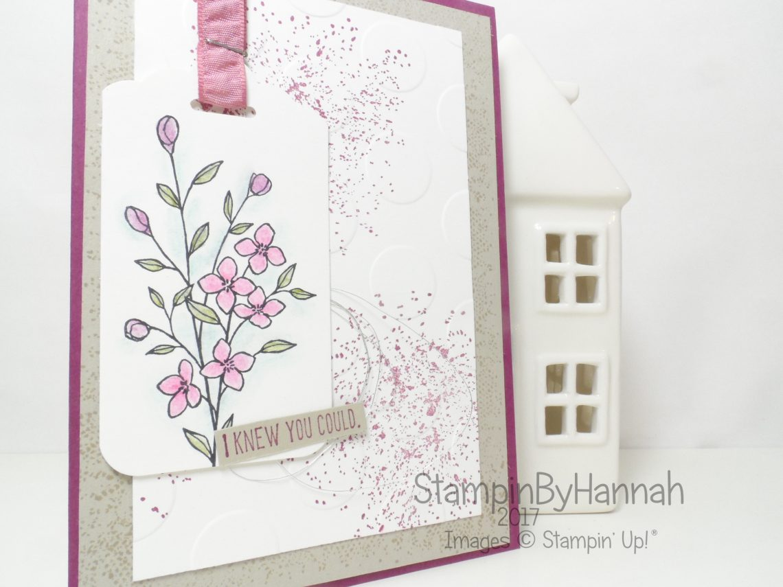Congratulations Knew you could Card using Timeless Textures from Stampin' Up! UK