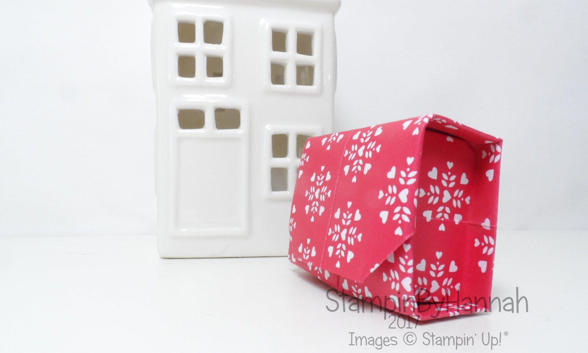 Love Hearts Week Origami Box Video Tutorial using Sending Love Designer Series Paper from Stampin' Up! UK