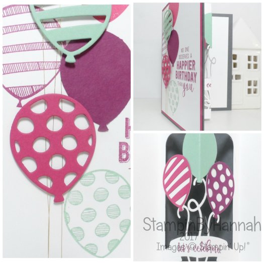 Balloon Pop Up Birthday Card using Balloon Adventures from Stampin' Up! UK