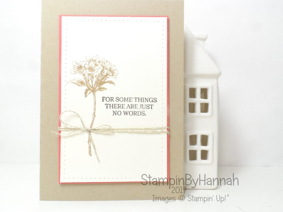 Sympathy Card using Avant Garden and Rose Garden from Stampin' Up! UK