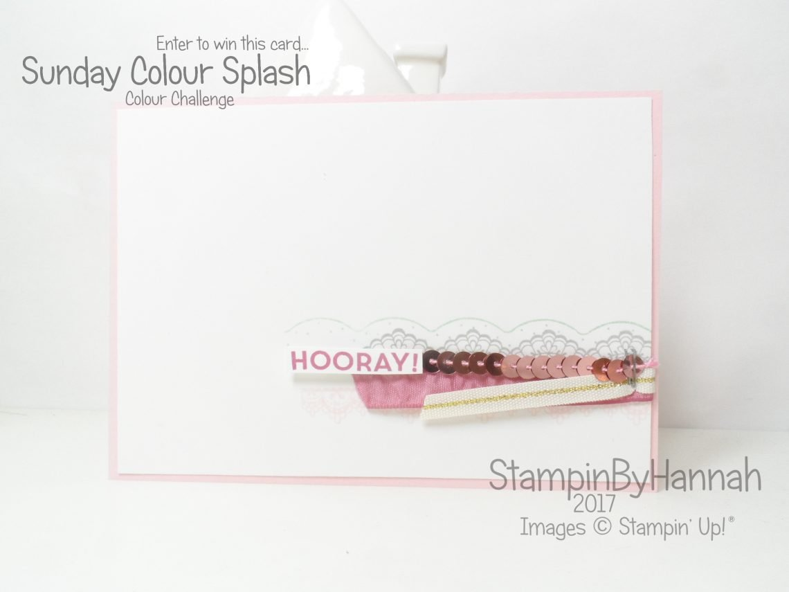 Sunday Colour Splash using Delicate Details Sale-a-bration SAB from Stampin' Up! UK Free stamps