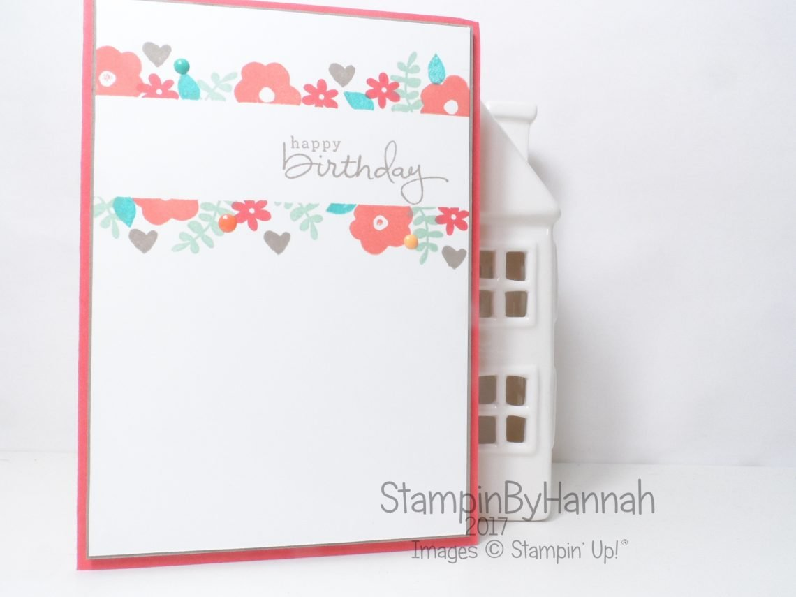 Handmade birthday card masking endless birthday wishes from Stampin' Up! UK