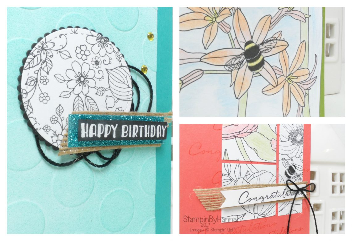 Make It Monday Sale-a-bration special 4 cards using Inside the Lines from Stampin' Up!