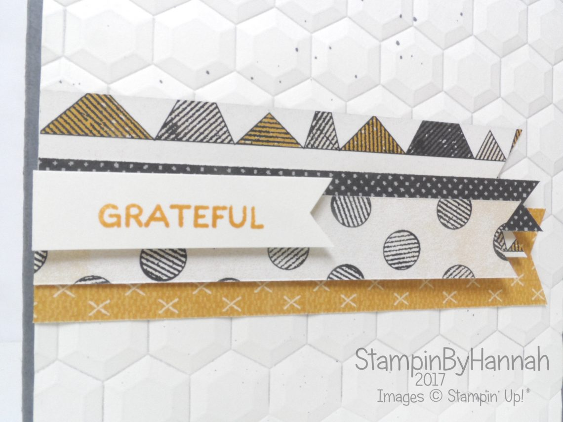 Make It Monday how to use your scraps of designer series paper using urban underground from Stampin' Up!