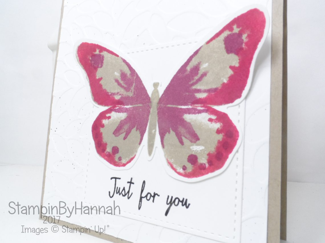 Global Design Project #084 Just for you card using Watercolour Wings from Stampin' Up!