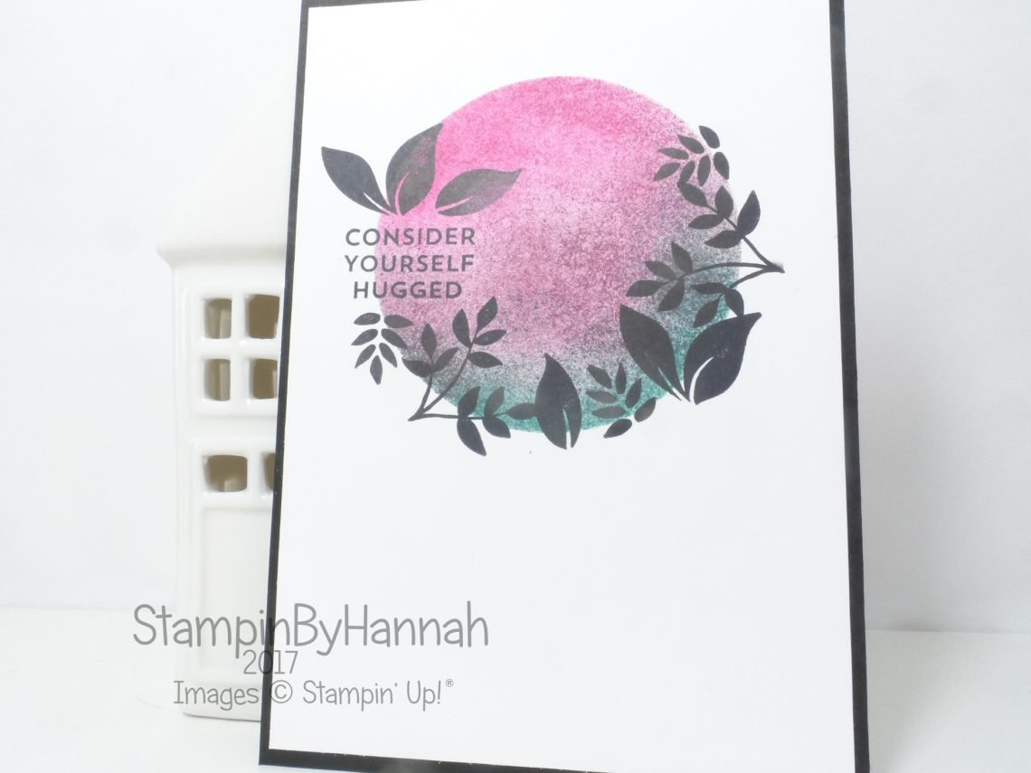 Stampin' Up! ink blended card using Lots of Love Display Stamper Sample