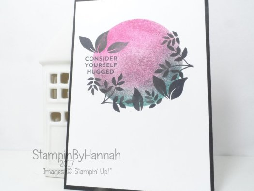Stampin' Up! ink blended card using Lots of Love Display Stamper Sample