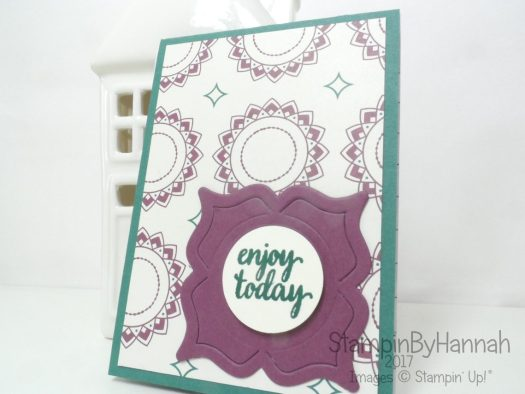 Make It Monday Video Tutorial How to Cover an A7 notebook using Eastern Palace from Stampin' Up!