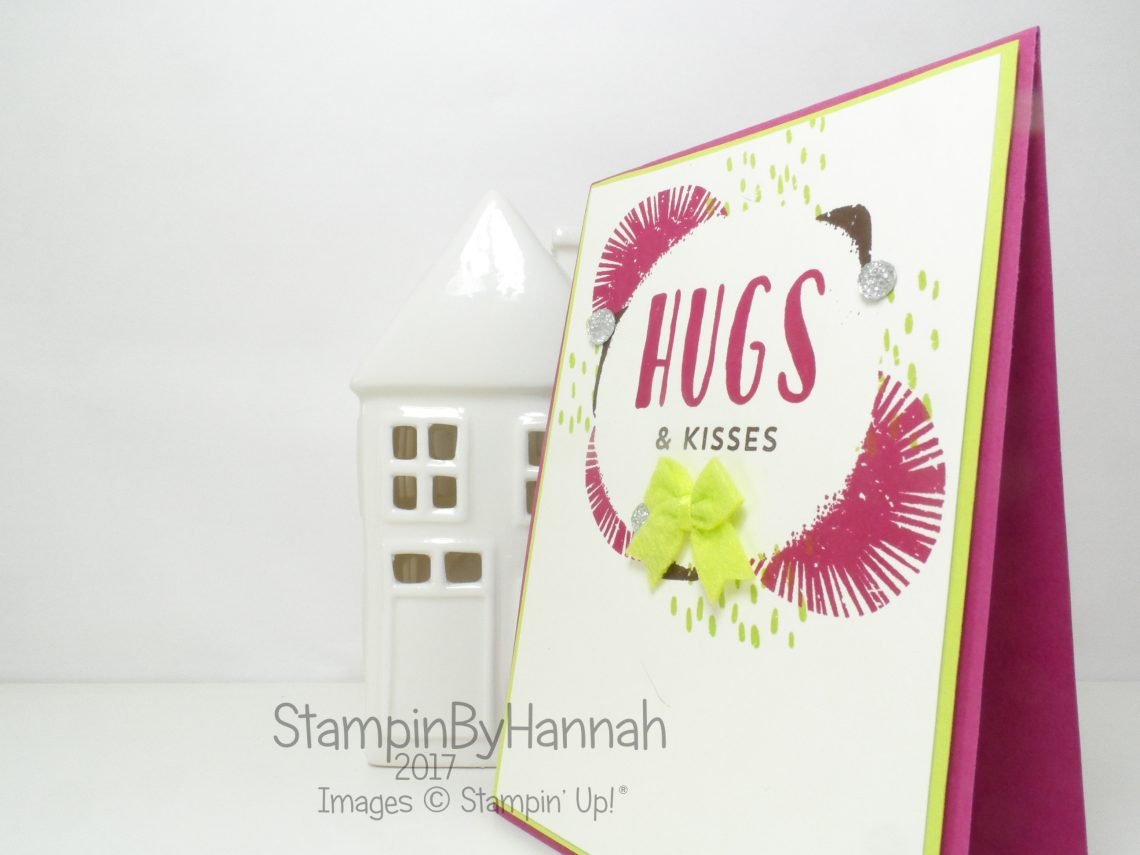 Hugs and Kisses Card using Lovely Inside and Out from Stampin' Up!