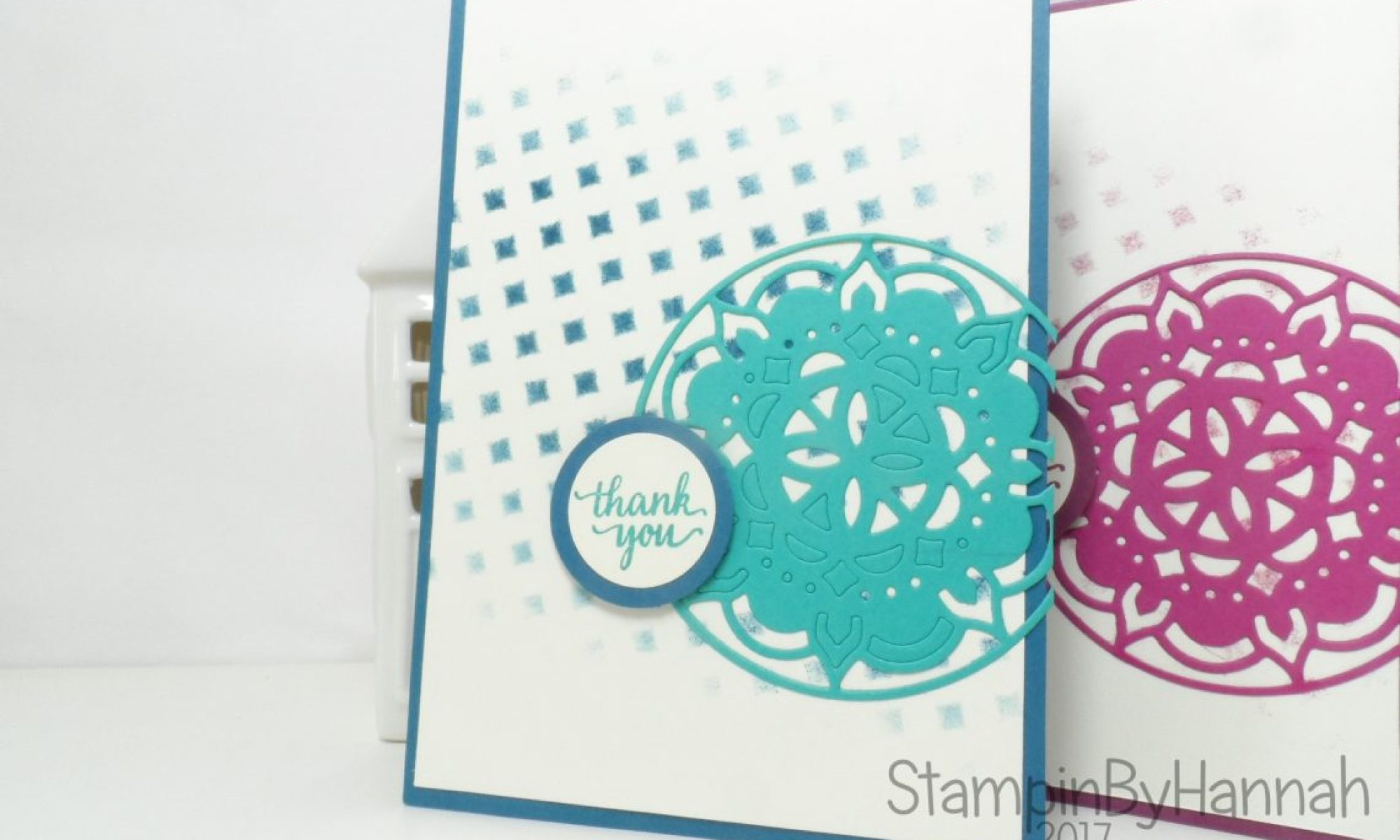 Techniques Series Masking How to use Party Pattern Masks and ink from Stampin' Up!