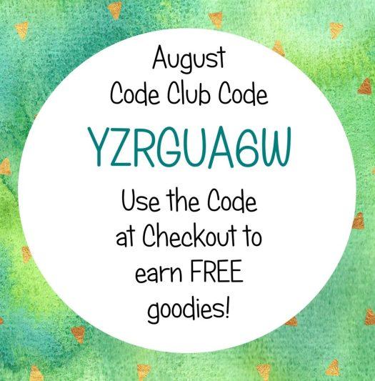 Stampin' Rewards Hostess Code Club Code August 2017