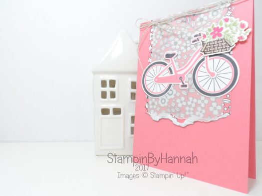 Girls and Guys cards video tutorial how to 2 step stamp using Bike Ride from Stampin' Up!