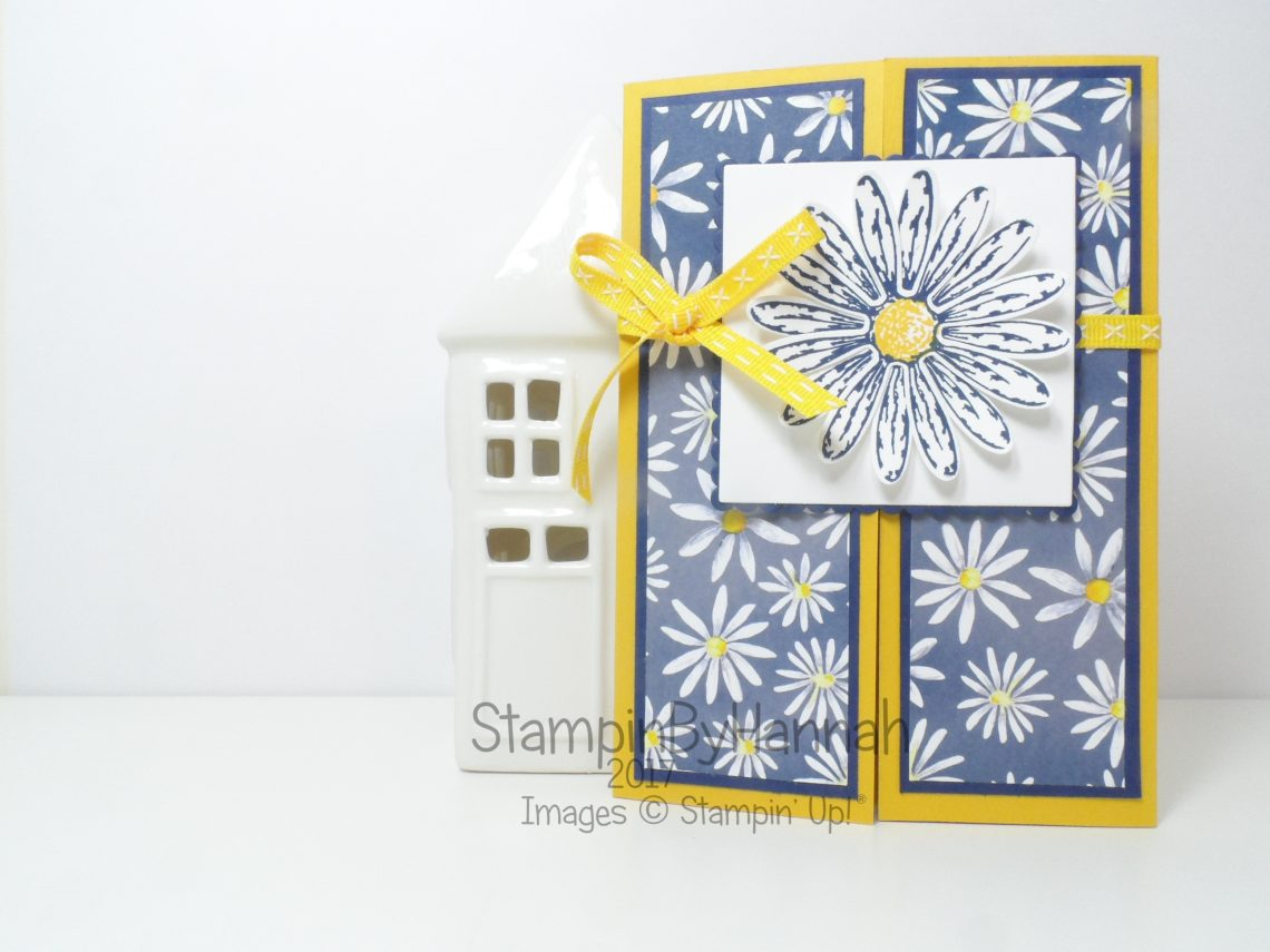 Make It Monday Video Tutorial how to make a Gate fold Card using Delightful Daisy from Stampin' Up!