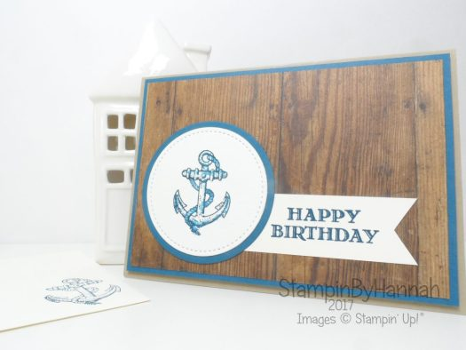 Nautical Male Birthday card using Guy Greetings from Stampin' Up!