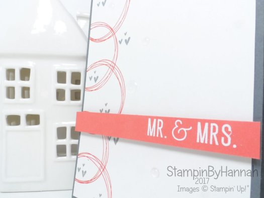 Inspire.Create.Challenge Wedding Card Colour Challenge using Year of Cheer from Stampin' Up!