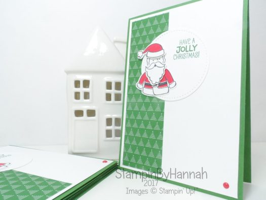 Make It Monday How to make a cute Christmas Card using Santa's Suite from Stampin' Up! Team Training Swap card