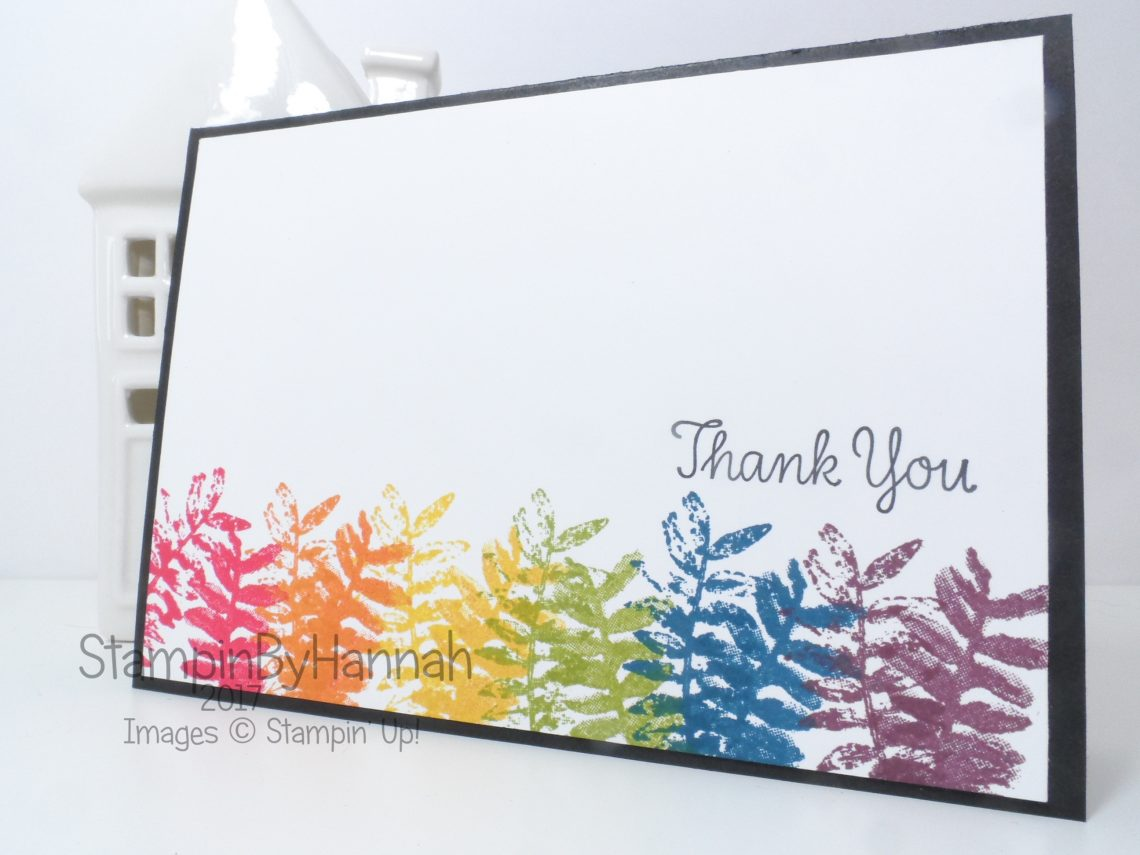 Rainbow Than You card using Painted Harvest from Stampin' Up!
