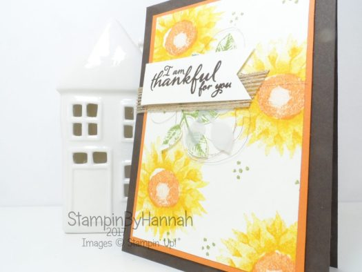 Facebook Live video tutorial how to make a cute card using Painted Harvest from Stampin' Up!
