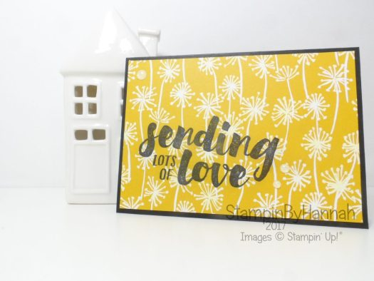 Sending Love Thinking of You Card using Whole Lot of Lovely Designer Series Paper from Stampin' Up!