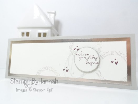 Wedding Congratulations card using Cheers to the Year from Stampin' Up!