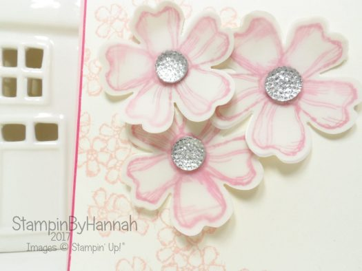 Learn to stamp club card using Birthday Blossoms from Stampin' Up!