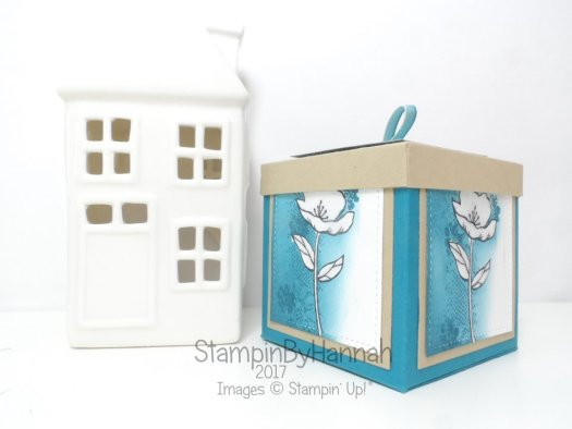 Make It Monday Video Tutorial Large Lidded Box using Birthday Blooms from Stampin' Up!