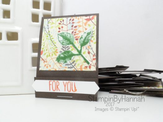 Make It Monday Pootles Inspired Scissor Charm Matchbooks using Painted Autumn Designer Series Paper from Stampin' Up!