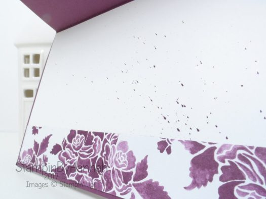 Inside a Fresh Florals Birthday card