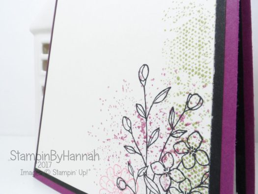 Inside of Love card for Kylies Blog Highlight using Touches of Texture from Stampin' Up!